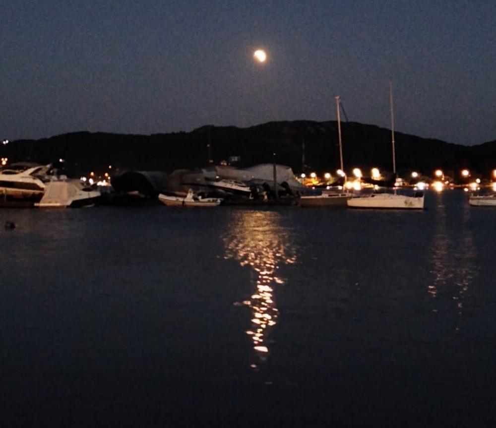 Veja fotos do eclipse parcial da Lua em SC