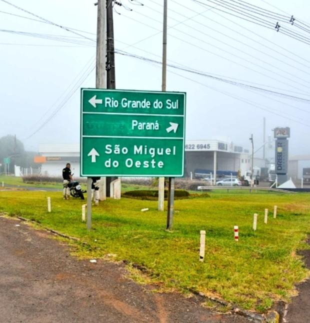 Demutran trabalha na melhoria da sinalização em São Miguel do Oeste